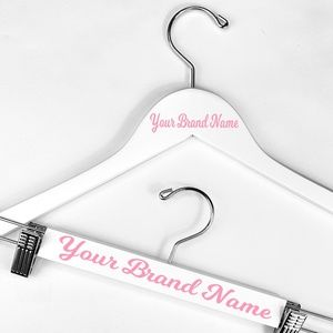 Shirt & Pant Solid Wood Custom Hanger Set - White